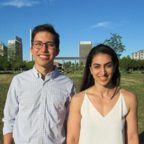 Edgar Soto and Rachel Tindal